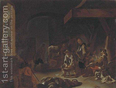 Figures in a forge by (after) Jan Miel - Reproduction Oil Painting