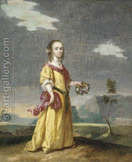 Portrait of a girl by (after) Jan Mytens - Reproduction Oil Painting