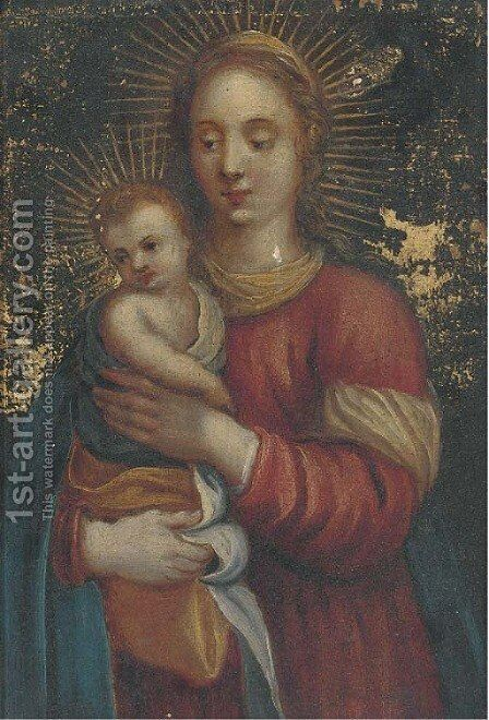 The Virgin and Child by (after) Jan Van Balen - Reproduction Oil Painting
