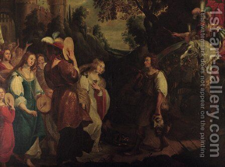 The Triumph of David by (after) Jan Van Den Hoecke - Reproduction Oil Painting