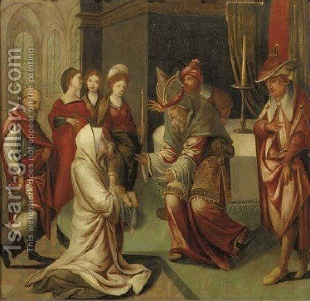 The Presentation in the Temple by (after) Jan Van Dornicke - Reproduction Oil Painting