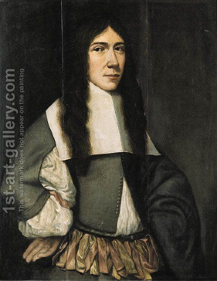 Portrait of a man by (after) Jan Van Rossum - Reproduction Oil Painting