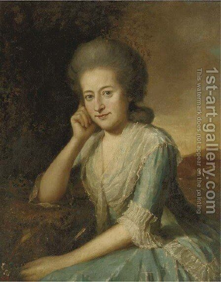 Portrait of a lady by (after) Jean Humbert De Superville - Reproduction Oil Painting