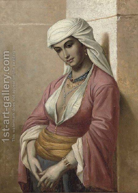 Odalisque by (after) Jean Raymond Hippolyte Lazerges - Reproduction Oil Painting