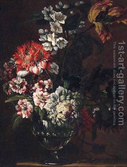 Flowers 2 by (after)  Jean Baptiste Belin De Fontenay - Reproduction Oil Painting