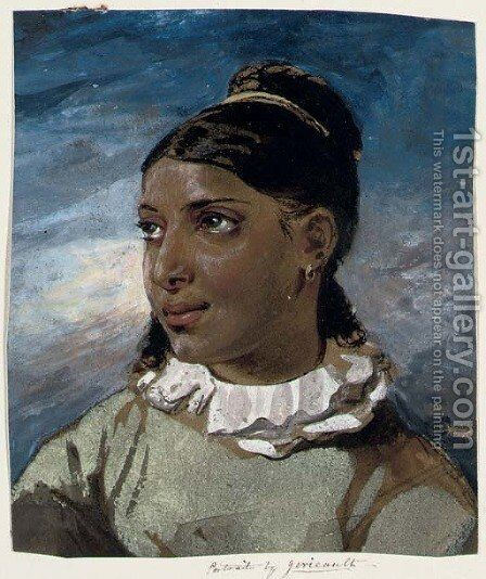 Portrait of a young woman by (after) Theodore Gericault - Reproduction Oil Painting