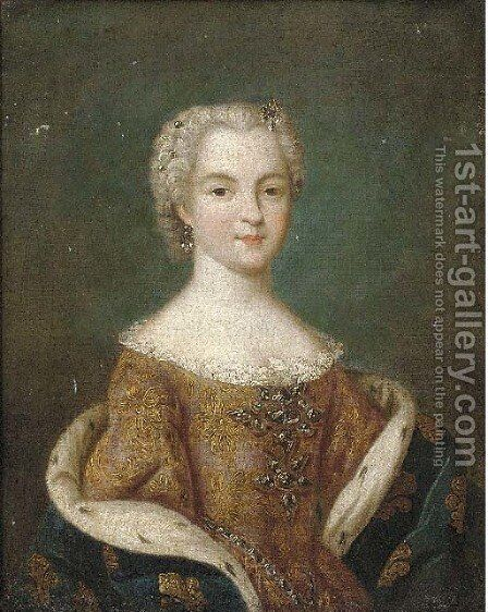 Portrait of a French Princess by (after) Jean-Marc Nattier - Reproduction Oil Painting