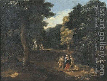 Christ on the Road to Emmaus by (after) Joachim Franz Beich - Reproduction Oil Painting