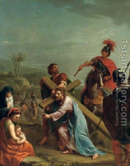 Christ carrying the Cross by (after) Johann Heinrich The Elder Tischbein - Reproduction Oil Painting