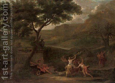 Apollo as a shepherd by (after) Johannes (Polidoro) Glauber - Reproduction Oil Painting