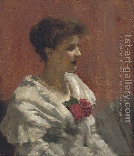 Portrait of a lady by (after) John Da Costa - Reproduction Oil Painting