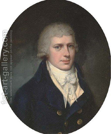 Portrait of Charles Eyre by (after) John Downman - Reproduction Oil Painting