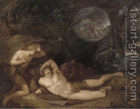 The destruction of Sodom and Gomorrah by (after) John Hamilton Mortimer - Reproduction Oil Painting