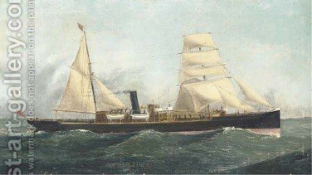 The auxiliary steamer Ardlethen of Aberdeen by (after) John Henry Mohrmann - Reproduction Oil Painting