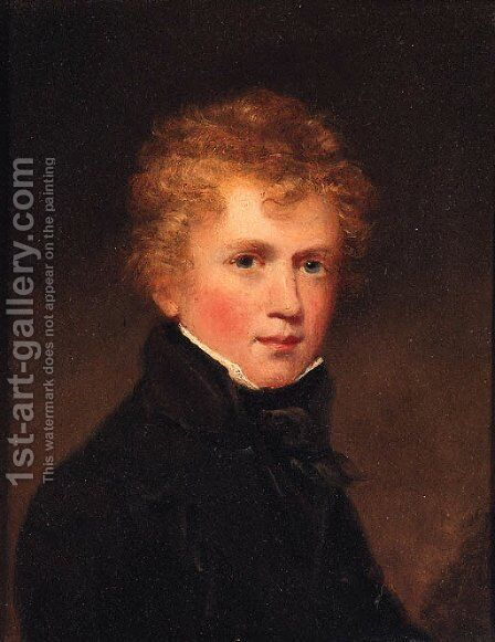 Portrait of Charles Windham Humphreys by (after) John James Masquerier - Reproduction Oil Painting