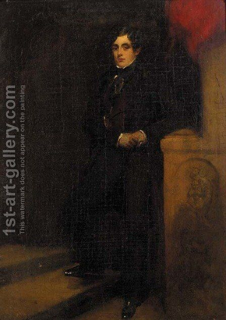 Portrait of Lord Charles Thynne by (after) John Partridge - Reproduction Oil Painting