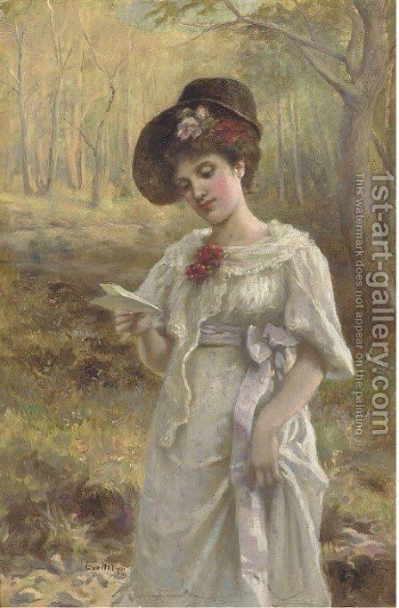 A girl in a lace mantilla by (after) John Phillip - Reproduction Oil Painting