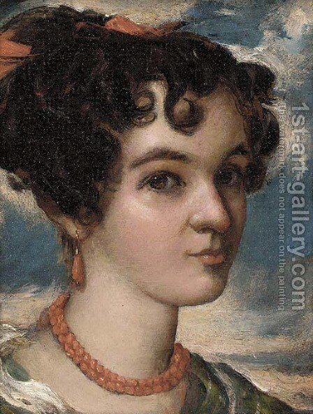 A young beauty by (after) John Phillips - Reproduction Oil Painting