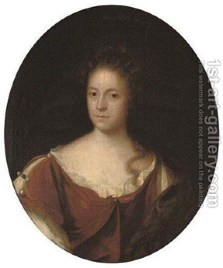 Portrait of a lady by (after) John Riley - Reproduction Oil Painting