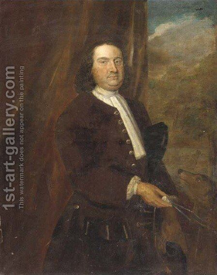 Portrait of a gentleman 4 by (after) John Theodore Heins - Reproduction Oil Painting