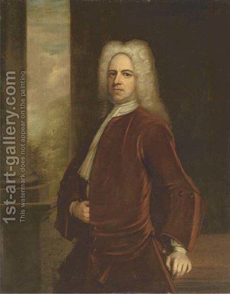 Portrait of Sir Thomas Frederick (1680-1730) by (after) John Vanderbank - Reproduction Oil Painting