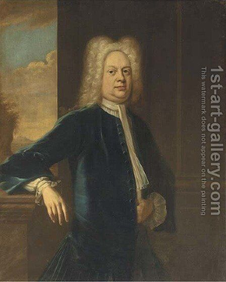 Portrait of Thomas Frederick by (after) John Vanderbank - Reproduction Oil Painting