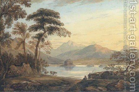 Kilchurn Castle, Loch Awe by (after) John Varley - Reproduction Oil Painting