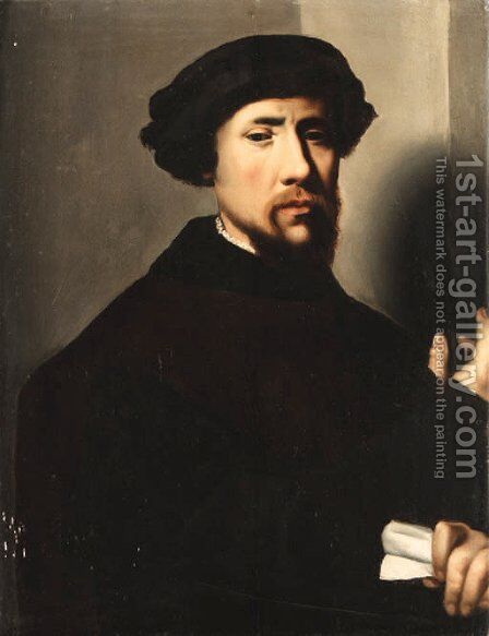 Portrait of a man by (after) Cleve, Joos van - Reproduction Oil Painting