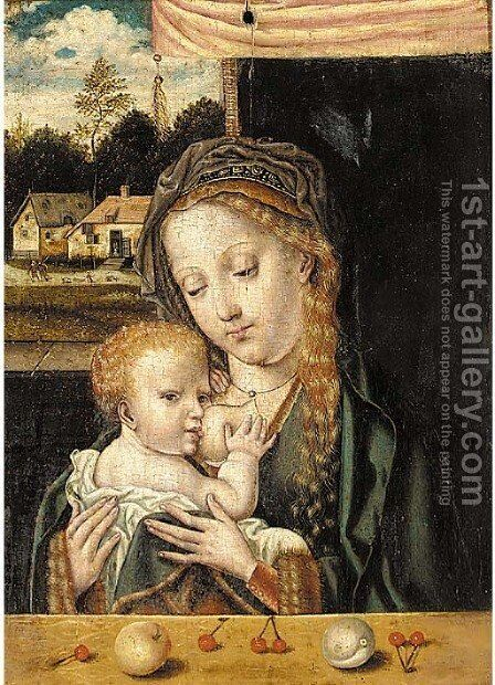 The Virgin and Child 2 by (after) Cleve, Joos van - Reproduction Oil Painting