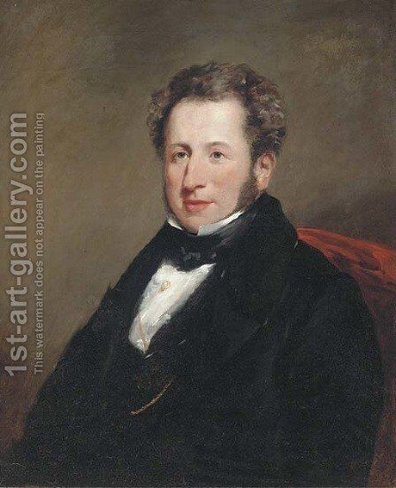 Portrait of a gentleman by (after) Josiah Gilbert - Reproduction Oil Painting