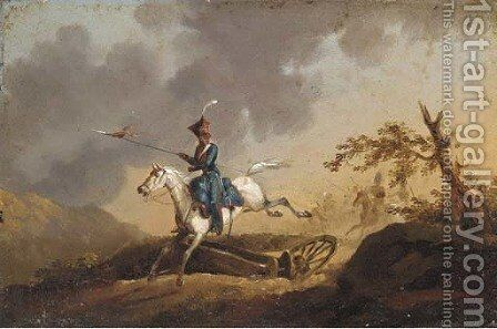 Leading the charge; and Another similar by (after) A. Jules Van Imschoot - Reproduction Oil Painting