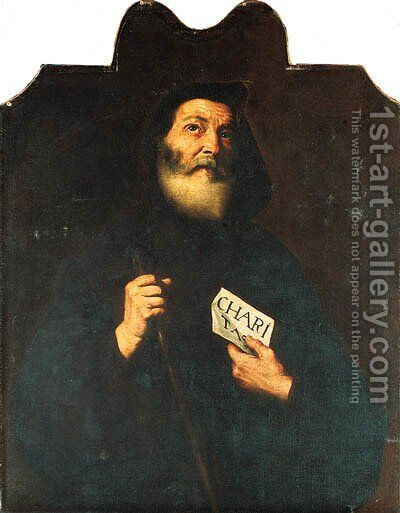 Saint Francis of Paola by (after) Jusepe De Ribera, Lo Spagnoletto - Reproduction Oil Painting