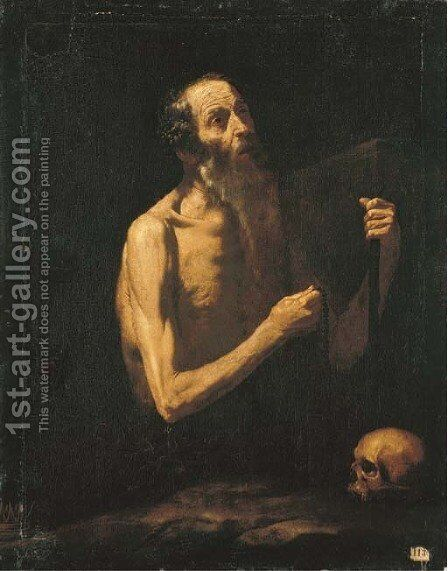 Saint Onophrius by (after) Jusepe De Ribera, Lo Spagnoletto - Reproduction Oil Painting