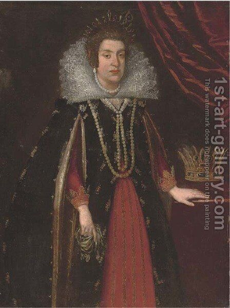 Portrait of Grand Duchess Maria Magdalena of Austria (1589-1631) by (after) Justus Sustermans - Reproduction Oil Painting