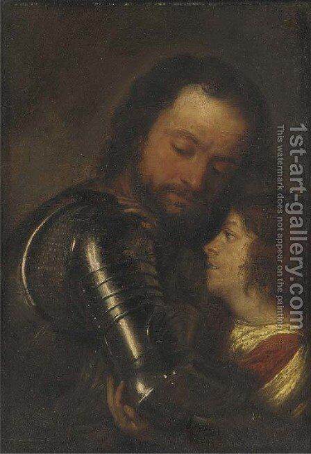 A page arming a knight by (after) Justus Van Egmont - Reproduction Oil Painting