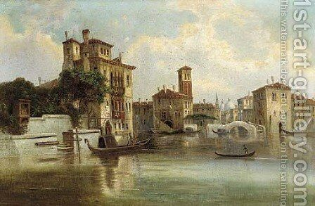 A Venetian capriccio by (after) Karl Kaufmann - Reproduction Oil Painting