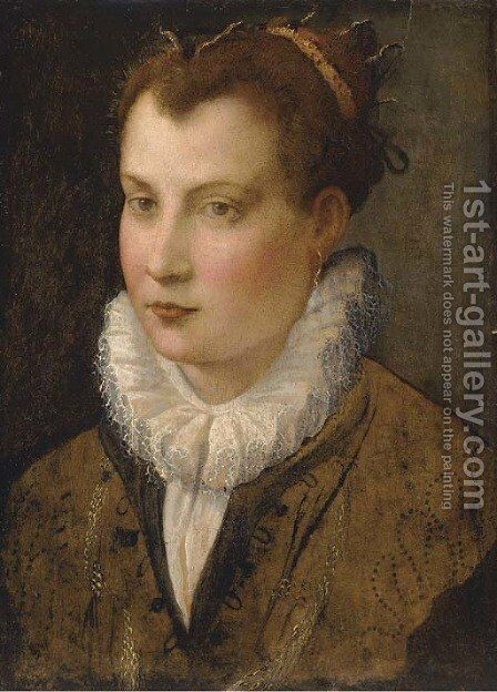 Portrait of a lady 2 by (after) Lavinia Fontana - Reproduction Oil Painting