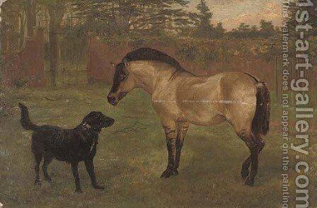 A cautious introduction by (after) Lilian Cheviot - Reproduction Oil Painting