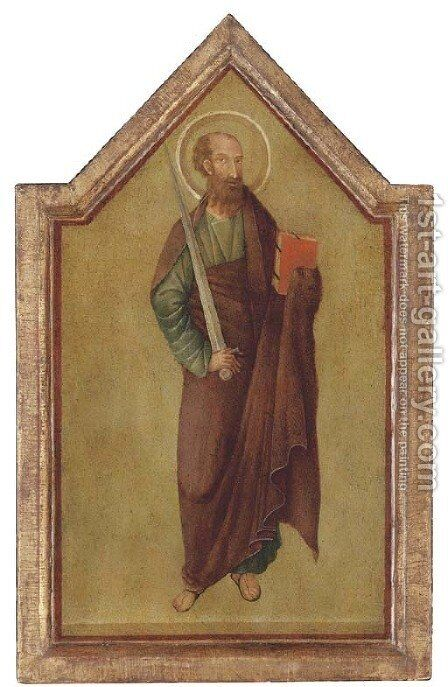 Saint Paul by (after) Lippo Di Benivieni - Reproduction Oil Painting