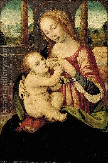 The Madonna and Child by (after) Lorenzo Di Credi - Reproduction Oil Painting