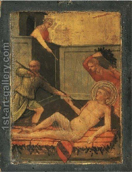 The Martyrdom of Saint Lawrence by (after) Lorenzo Di Niccolo - Reproduction Oil Painting