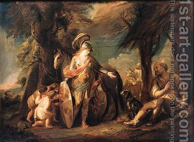 Erminia and the Shepherds by (after) Louis De, The Younger Boulogne - Reproduction Oil Painting