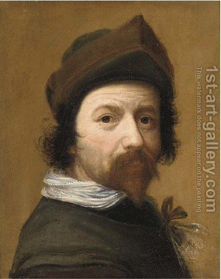 Portrait of a man by (after) Ludovicus Finsonius (see FINSON, Louis) - Reproduction Oil Painting