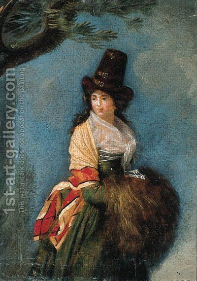 A woman by (after) Louis Gauffier - Reproduction Oil Painting