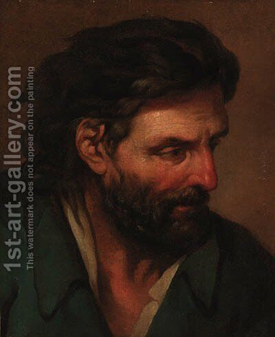 The head of a man by (after) Louis Lagrenee - Reproduction Oil Painting