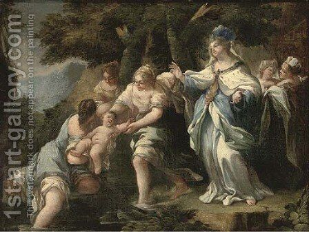 The Finding of Moses by (after) Luca Giordano - Reproduction Oil Painting
