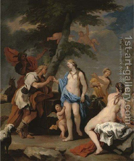 The Judgement of Paris by (after) Luca Giordano - Reproduction Oil Painting