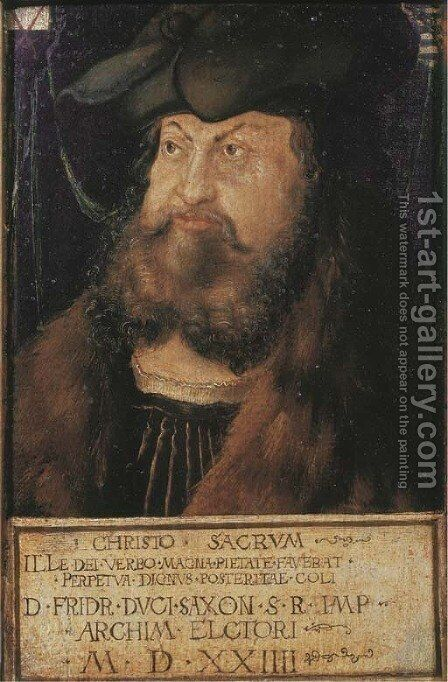 Portrait of Frederick the Wise, Elector of Saxony by (after) Lucas The Elder Cranach - Reproduction Oil Painting