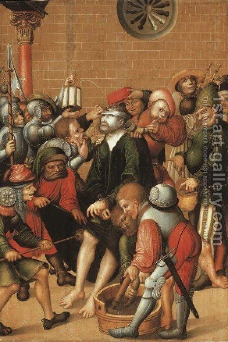 The Mocking of Christ by (after) Lucas The Elder Cranach - Reproduction Oil Painting