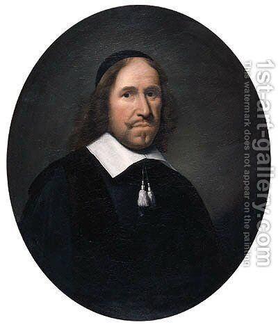 Portrait of a gentleman by (after) Ludolph De Jongh - Reproduction Oil Painting